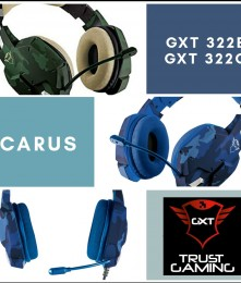 HEADSET GXT 322B CARUS TRUST GAMING